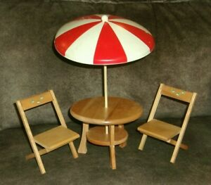 VINTAGE—1958—Strombecker BETSY McCALL PATIO SET—WITH BLUEBIRDS--COMPLETE SET!!