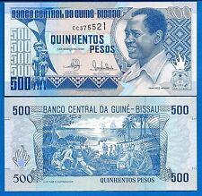 Guinea-Bissau P-12 500 Pesos Year 1.3.1990 Uncirculated Banknote
