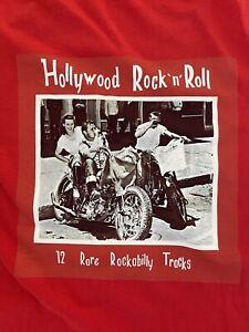 Hollywood Rock N Roll T- Shirt - New - Rockabilly