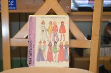"""1972 McCall's 3429 Clothing Pattern for 11-1/2"""" Teenage Fashion Dolls"""