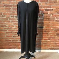 Elizabeth and James Annabelle Dress Black Long Sleeve Gold Trim $455 10