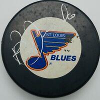 St. Louis Blues HOF Bernie Federko Autograph On Official NHL Puck.