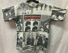 Vintage The Beatles Hard Days Night All Over Print Single Stitch T-shirt Usa L