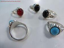 US SELLER bulk lot 20pcs wholesale imiattion gemstone fashion costume rings