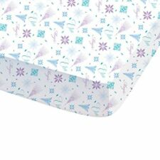 Disney 044705 Frozen arabesque Drap Housse pour enfant coton Blanc 190 x 90 cm