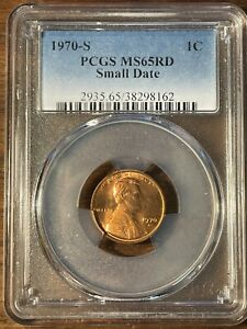 1970 S LINCOLN MEMORIAL CENT PCGS MS 65 RD SMALL DATE 2935.65/38298162
