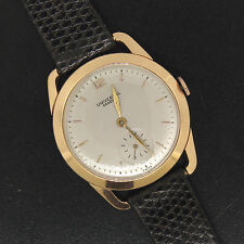 Vintage Men's 18K Rose Gold Universal Geneve Manual Wind Fancy Lug Wrist Watch
