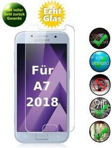 Samsung Galaxy A7 2018 Schutzglas 9H Panzerfolie Echtglas Schutzfolie Folie Glas