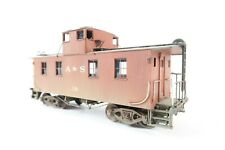 ALCO MODELS HO GAUGE BRASS WOOD CABOOSE, WEATHERED