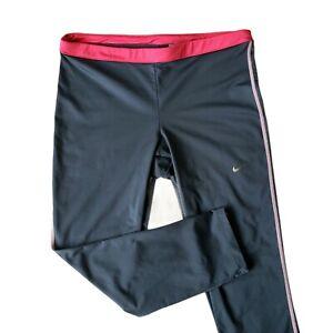 Nike Golf Tour Performance DRI-FIT Cropped Leggings Women's M Blue Pink 519585