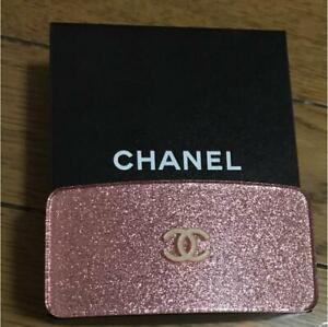 CHANEL COCO Mark Lame Pink Barrette Hair Clip Glitter Silver CC Box From Japan