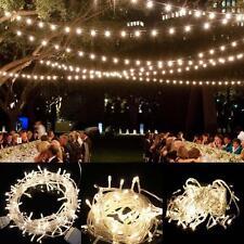 Chaîne fée Light 100LED Mariage Noel Xmas Party Décoration extérieure Warm EU EH