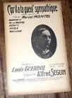 c'qu'il à la gueul' sympathique valse bouffonne partition chant 1910 Alf. Seguin