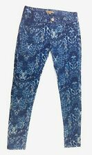 Romeo + Juliet Couture Nordstrom Womens NEW Size 28 Blue Printed Skinny Jeans