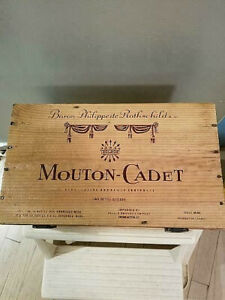 Mouton-Cadet Baron Philippede Rothschils 2 Bottle Wine Crate