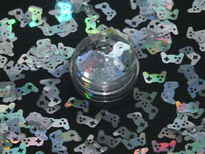 2g Game Controller HOLOGRAPHIC Nail Art Sequins Glitter Slime Craft DIY UK