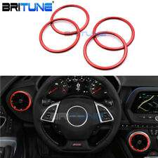 Red Ring Air Condition Vent Decoration Cover Trim For Chevrolet Camaro 2017 2018