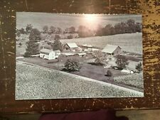 "Aerial View Farm Black & White Digital Photograph Mounted On Board 24"" by 16"" D"