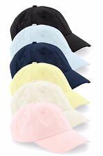 Low Profile Chino Cotton BEIGE PINK LEMON MINT BLACK BLUE Baseball Dad Cap Hat
