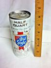 """Heileman's old style pure genuine half quart aluminum beer can 16 oz. 6.5"""" AY2"""