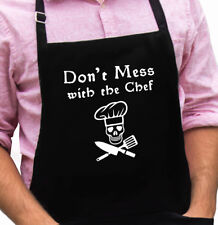 Don't Mess with the Chef Funny Novelty Apron Gift for Dad, Husband, Fathers Day