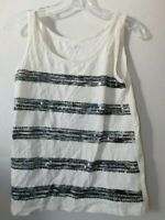 Ann Taylor LOFT Size XS Sequin Accent scoop neck sleeveless top