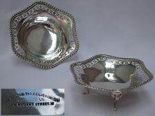 Pair of Quality Sterling Silver English Bonbon Dishes Goldsmiths & Silversmiths