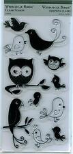 TPC STUDIO clear stamp set WHIMSICAL BIRDS Owl ST93407