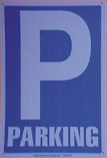 PARKING. CARTEL LETRERO 20 X 30 CMS. PLACA PLASTICA SEÑAL