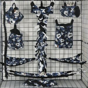 Mickey Mouse * 15 PC Sugar Glider Cage set * Rat * double layer Fleece