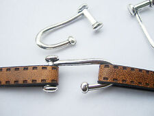 10 x Antique Silver J Hook Clasp Bracelet Finding for 5mm 10mm Flat Leather 41mm