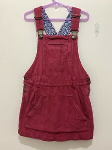 Lovely Girls Fat Face Red Cord Pinafore Dress 6-7yrs❤️
