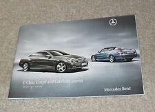 Mercedes E Classe Coupé Cabriolet Price Guide 2010 E220 E250 E350 CDI E500 SPORT