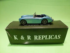 K & R REPLICAS SMTS AUSTIN HEALEY SPRITE MK2  1:43  - IN BOX  - GOOD CONDITION
