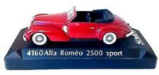 ALFA ROMEO 2500 SPORT 1939 1/43 SOLIDO ROUGE SOCLE UNIQUEMENT AUTO COMME NEUVE