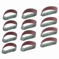 "12Pc Sanding Belts 40/80/120 Grit Aluminum Oxide 3""x21""Belt Sander Durable Grind"