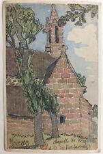 JEAN LÉBÉDEFF (1884-1972) Aquarelle Chapelle KERFONS Bretagne Kerfaouez 1913 #19