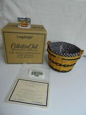 New ListingLongaberger Jw 2002 Miniature Corn Basket Combo Nib