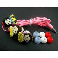 NEW Princess Belle Mobile Headphone Headset Earphone Earbud For iPhone MP3 MP4