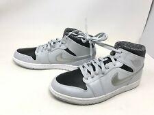 Mens Jordans (554724-032) 1 Retro Mid Wolf Grey Sneakers Size 10.5 (406M)