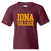 Iona College Gaels Basic Block Youth T-Shirt - Maroon