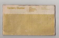 1974 Plymouth Valiant/Duster Owners Manual & Build Sheet