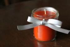 Handmade Orange Round Candles & Tea Lights
