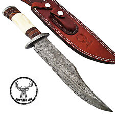 Tahoe Basin Hunt For Life Hunting Damascus Steel Full Tang Fixed Blade Knife