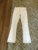 Citizens of Humanity White Denim Wide Flare Leg Jeans 27