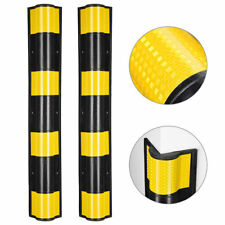 """31"""" Rubber Round Edge Corner Guard Protector Reflective Yellow Safety Strips 2pc"""