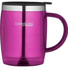 Thermos Thermocafe 0.45 Litre Desktop Mug Pink Camping Picnic Cup Coffee Tea New