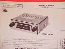 1960 AUTOMATIC CAR AM RADIO SERVICE MANUAL CU-39 UN-40 CHEVROLET FORD CHRYSLER