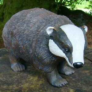 Pixieland Adult and Cub Badger Resin Garden Ornament Brand