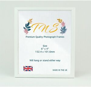 Premium Quality Photo Frame✓ Pack of 2✓ Made in UK✓ White Picture Frame Size 6x4